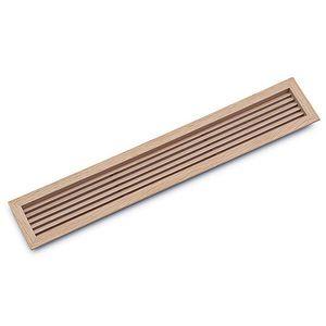 rejilla de ventilación de madera / rectangular / cuadrada / lineal