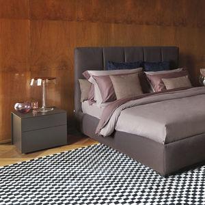 mesilla de noche contemporánea / de madera / rectangular / con cajón