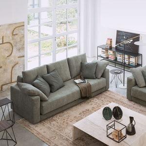 sofá cama / contemporáneo / de tejido / de cuero