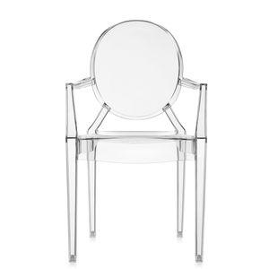 silla contemporánea / con reposabrazos / apilable / medallón
