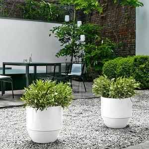 maceta de jardín de terracota / redonda / para uso residencial