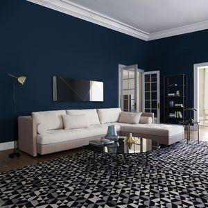 alfombra contemporánea / con motivos geométricos / de lana / de seda