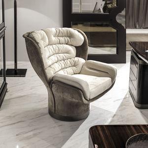 sillón de oficina de diseño original / de tejido / de cuero / de fibra de vidrio