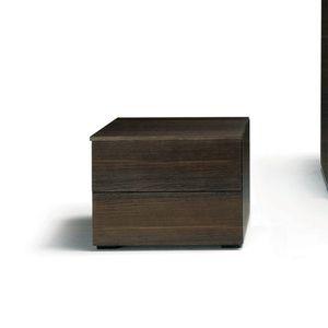 mesilla de noche contemporánea / de roble / de nogal / rectangular