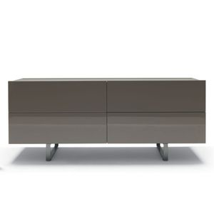 cómoda contemporánea / de madera lacada / de Mauro Lipparini / gris