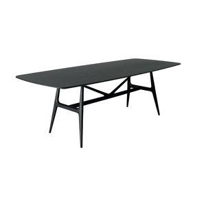 mesa de diseño escandinavo / de madera maciza / de madera tintada / rectangular