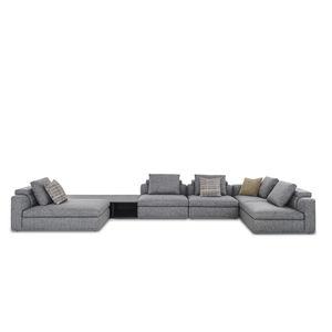 sofá modular / contemporáneo / de tejido