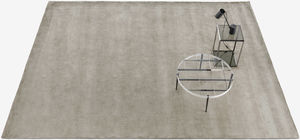 alfombra contemporánea / de color liso / de seda / rectangular