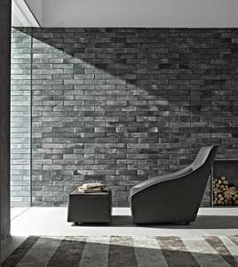 sillón contemporáneo / de tejido / de cuero / con revestimiento removible