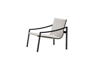 sillón contemporáneo / de metal / de tejido / de cuero