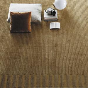 alfombra contemporánea / de color liso / de lino / de bambú
