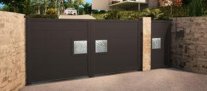 portones abatibles / de aluminio / de láminas / para uso residencial