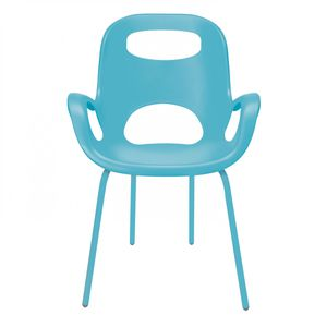 silla contemporánea / con reposabrazos / de acero / de polipropileno