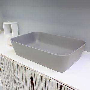 lavabo sobre encimera / rectangular / de material compuesto / contemporáneo