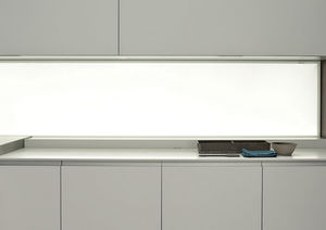 panel decorativo de vidrio / de pared / lacado / LED