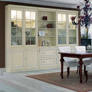 vitrina aparador de estilo / de madera lacada