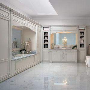 baño clásico / de madera maciza / de mármol / lacado
