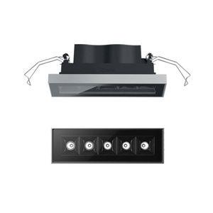 downlight empotrable / para exterior / LED / cuadrado