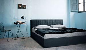 cama de matrimonio / individual / contemporánea / tapizada