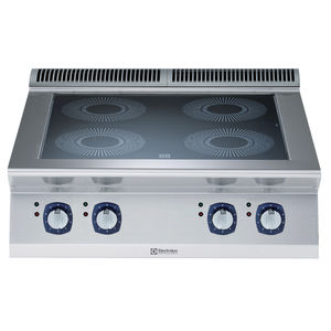 placa de cocina de inducción / de vitrocerámica / profesional / modular
