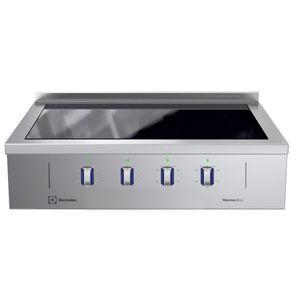 placa de cocina eléctrica / profesional / de acero inoxidable / 4 fuegos