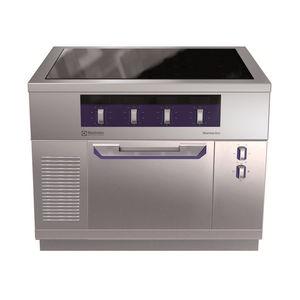 cocina con horno de vitrocerámica / de inducción / profesional / de acero inoxidable
