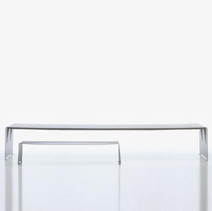mesa de comedor contemporánea / de aluminio lacado / rectangular / contract