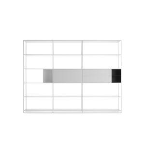 estantería modular / contemporánea / de MDF lacado / de aluminio