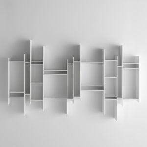 biblioteca modular / mural / contemporánea / para el sector servicios