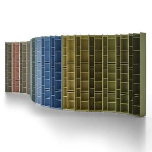 biblioteca modular / contemporánea / para el sector servicios / de MDF lacado