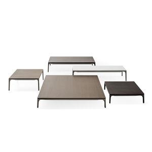 mesa de centro contemporánea / de roble / de roble albar / de aluminio