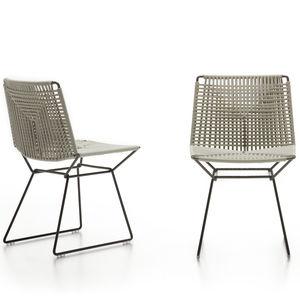 silla contemporánea / patín / impermeable / de acero