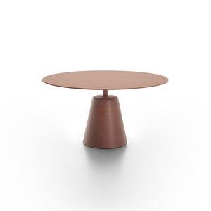 mesa de comedor contemporánea / de roble / de MDF / de vidrio ahumado