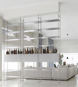 estantería modular / biombo / contemporánea / aluminio