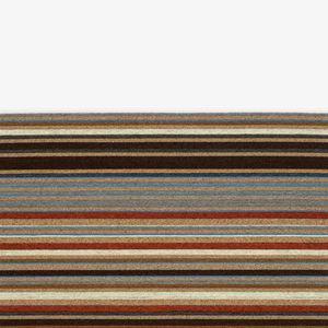 alfombra contemporánea / de rayas / multicolor / de lana
