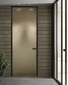 puerta acristalada / de interior / abatible / de aluminio