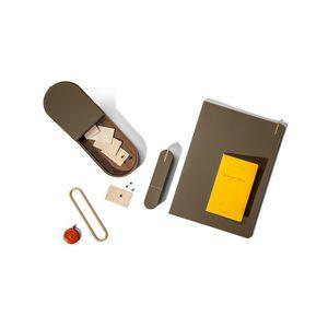 caja de almacenamiento de cuero
