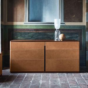 aparador contemporáneo / madera / de cuero / de mármol