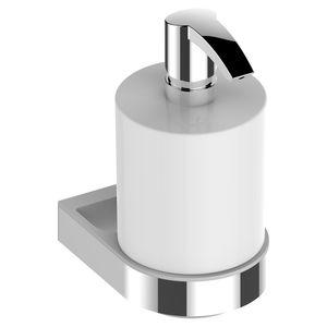 dispensador de jabón para hotel / para hospital / de pared / de metal cromado