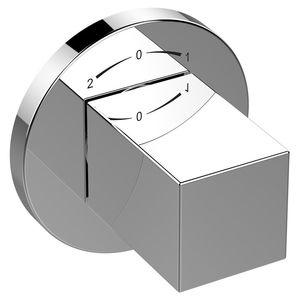 grifo monomando para bañera / de pared / de metal cromado / de baño