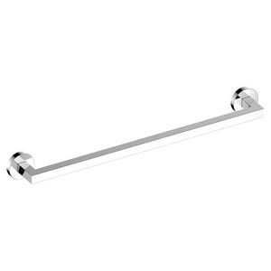 toallero 1 barra / de pared / de metal cromado / para hotel