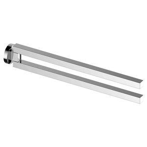toallero 2 barras / de pared / de metal cromado / para hotel
