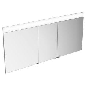 mueble de baño contemporáneo / de metal / de pared / con espejo