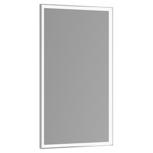 espejo para baño de pared / con luz LED / contemporáneo / rectangular