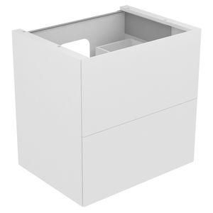 mueble de lavabo suspendido / de madera / contemporáneo / con cajones