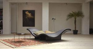 diván de diseño original / de cuero / modular / para el sector servicios