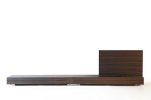 mueble de televisión contemporáneo / giratorio / de madera