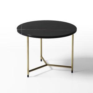 mesa de centro contemporánea / de latón / de mármol / rectangular