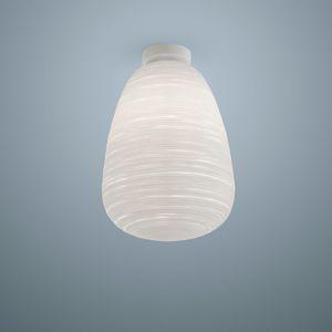plafón contemporáneo / de vidrio soplado / de metal lacado / LED