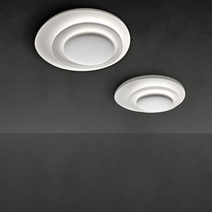 plafón contemporáneo / redondo / de policarbonato / LED